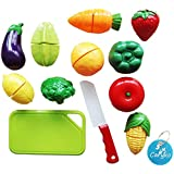 Caryko Fruit & Vegetable Cutting Food Set Toy For Toddlers Kids, Set Of 12