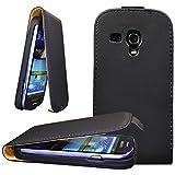 CoolGadget Flip H�lle f�r Samsung Galaxy S3 Mini in Schwarz + 1x Schutzfolie