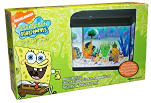 Pet kennels penn plax spongebob aquarium for Spongebob fish tank