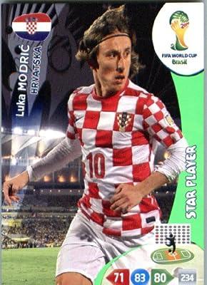 2014 FIFA Panini Adrenalyn World Cup Soccer Card Luka Modric Hrvatska (Croatia)