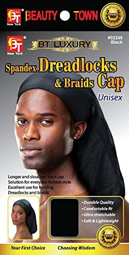 Beauty Town Luxury Spandex Dreadlocks & Braids Cap - Black (Dreadlock Stocking Cap compare prices)