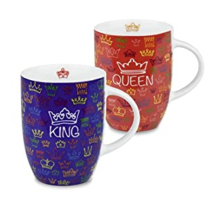 Konitz King and Queen Set of 4 Mugs - Multiple Colors