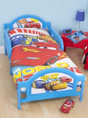 Disney Cars Speed Toddler Bed + Fully Sprung Mattress