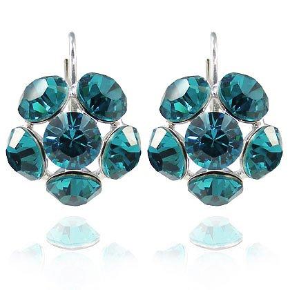 Bilder von Ohrringe mit SWAROVSKI ELEMENTS Blue Zircon - Farbe - Blue Zircon - Silber