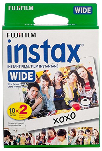 Fujifilm Instax Wide Film Twin Pack (White) (New Packaging) (Slide Film 800 compare prices)
