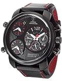 Detomaso CASABONA Multifunction DT2018-A Trend DT2018-A - Reloj analógico de cuarzo para hombre, correa de cuero color negro