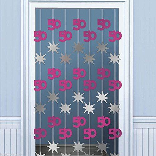 Pink Shimmer 50th Door Danglers Decoration