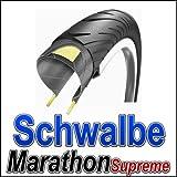Schwalbe Marathon Supreme Evolution Line Lite Skin HD Speed Guard Road Star Folding Tyre - Reflex Black, 700 x 40 C