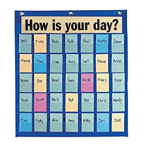 Image: Creative Learner Behavioral Pocket Chart, 18.5 X 21 Inches, Blue, 35 Pockets