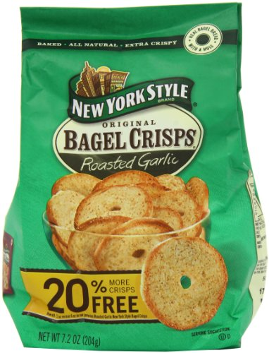 New York Style Garlic  Bagel Chips 204g (3 pack)