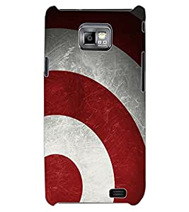 ColourCraft Shield Design Back Case Cover for SAMSUNG GALAXY S2 I9100