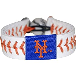 MLB New York Mets Authentic Baseball Bracelet