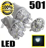 501 9 LED XENON WHITE SIDELIGHT INTERIOR BULBS W5W 194 T10 LEXUS IS250