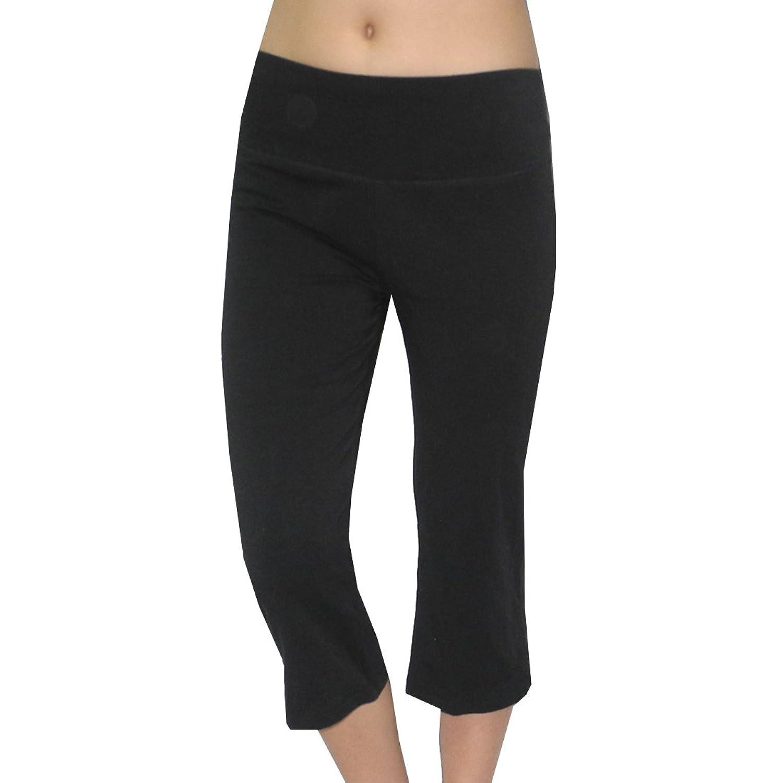Eterno Damen Casual-Wear Lounge / Yoga Caprihose – schwarz jetzt bestellen