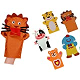 Kids Sewing Craft kits Jungle Animals Hand Puppet kit -Set Of 5 Pcs DIY Puppets-Includes All Craft Supplies & Easy Instructions