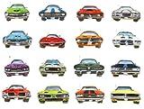 Sixteen Muscle Cars