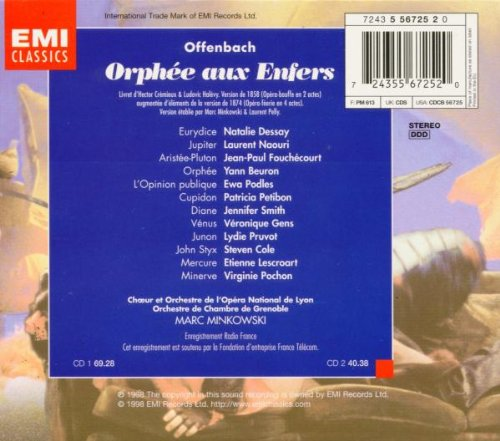 orphee aux enfers dvd dessay Jacques offenbach's orphÉe aux enfers (orpheus in the underworld) a production by the opéra national de lyon, arthaus music, 2009 i was not familiar with this work when i bought it.