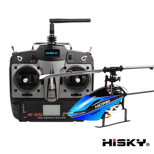 Hisky Hcp80 Fbl80 6Ch Mini 3D Flybarless 3 Axis Gyro Rc Helicopter X-6S Rtf