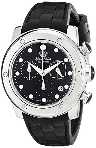 Glam Rock Mujer GR50129 Aqua Rock cron-grafo Black Dial Black Silicone Reloj