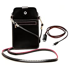 buy Universal Pu Leather Shoulder Bag Purse Pouch For Lg V10 / Lg Nexus 6P / Lg G5 / Lg Nexus 5X Lager Smartphone Up To 6.3'' (Black) + Sumaclife Lightning Sync And Charge Micro Usb Cable (Red)