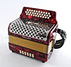 Excalibur North American Veracruz Button Accordion - Red