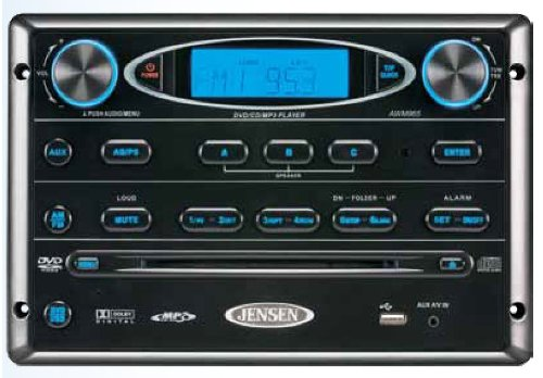 Jensen AWM965 AM/FM|CD|DVD|MP3/USB Wallmount