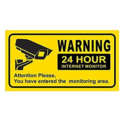JOOAN Security Sign Waterproof Eye-catching Warning 24 Hour Internet Monitor