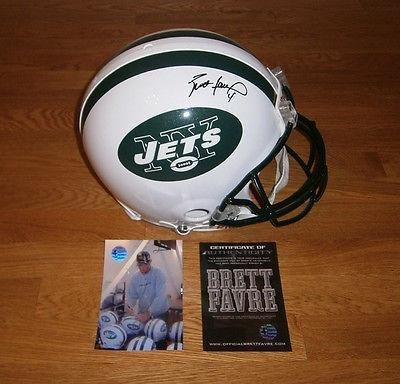 Brett Favre Signed Helmet - JETS Pro Line COA HOLO New York - Autographed NFL Helmets