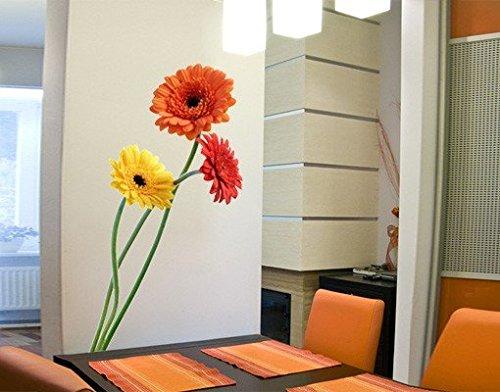 wandtattoo gerberastrau strau blume bunt farbig fr hling sommer strau. Black Bedroom Furniture Sets. Home Design Ideas