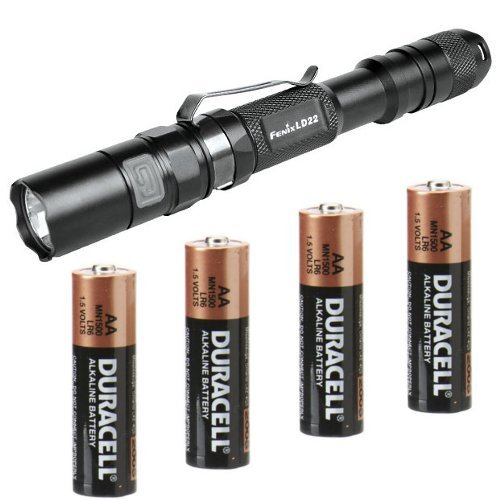 Images for Fenix LD22 XP-G R5 190 Lumen LED Flashlight Combo - Includes 4 x AA Duracell Batteries