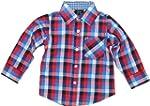Kids Baby Boys Check Long Sleeve Shir...