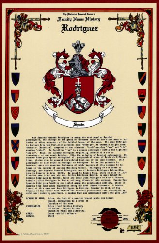 Rodriguez Coat Of Arms/Crest And Family Name History, Meaning & Origin Plus Genealogy/Family Tree Research Aid To Help Find Clues To Ancestry, Roots, Namesakes And Ancestors Plus Many Other Surnames At The Historical Research Center Store front-874424