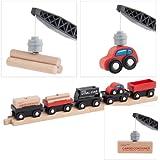 Orbrium Toys Cargo Train Car Set for Wooden Railway, 5-Piece