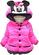 Bode Girl Disney Mickey Mouse Hooded Cotton-padded Clothes