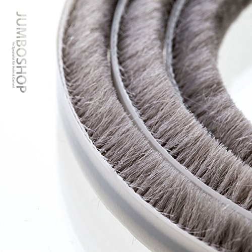b rstendichtung grau dichtungsb rste t rb rste selbstklebend fenster t ren h he 20mm extralang. Black Bedroom Furniture Sets. Home Design Ideas