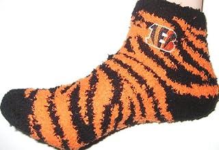 Cincinnati Bengals Zebra Sock Sizes Women Med 6-11 Men Med 5-10