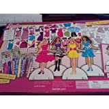 Mattel Barbie Deluxe Dress Up Paper Doll Activity Set Toy Fashion Dolls