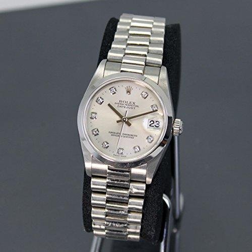 ROLEX(ロレックス) Date Just 78246 Pt950 プラチナ 10P ダイヤ 腕時計 ボーイズサイズ 自動巻き 40167