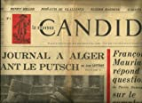 img - for LE NOUVEAU CANDIDE, 4 AU 11 MAI 1961, NUMBER ONE: MON JOURNAL A ALGER PENDANT LE PUTCH, FRANCOIS MAURIAC REPOND AUX QUESTIONS DE PIERRE DUMAYET SUR LE COMPLOT ET AUTRES ARTICLES book / textbook / text book