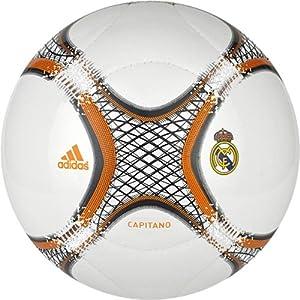 Adidas 13 RM Cap - Balón de fútbol, talla 5, color blanco / naranja / negro