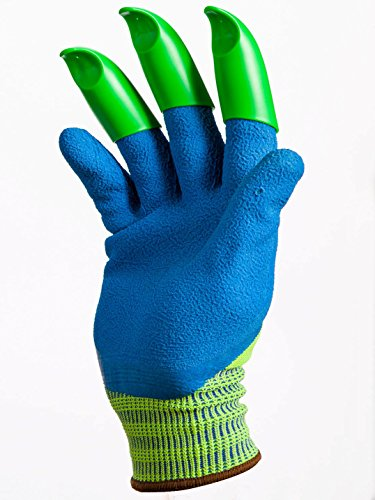 Honey Badger Garden Gloves For Digging Planting No More Worn Out Fingertips Claws On Right