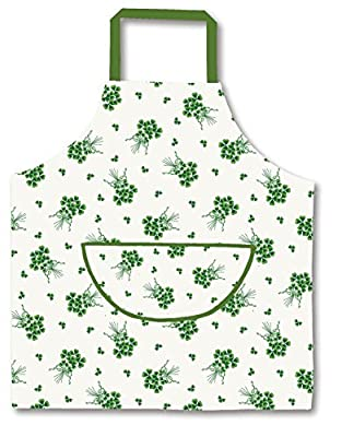 St. Patrick's Day Ulster Weavers Shamrock Bunch Cotton Drill Apron