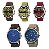 The Gledati 5 Analog Watches Combo for All_ADCOMB0002484