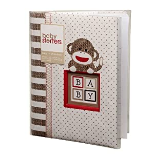 Babystarters Sock Monkey Baby Memory Book