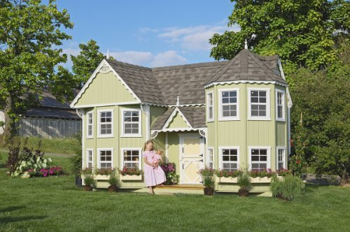 Victorian Backyard Playhouse : Victorian Mansion Kids Outdoor Playhouse (10 ft x 18 ft No Floor