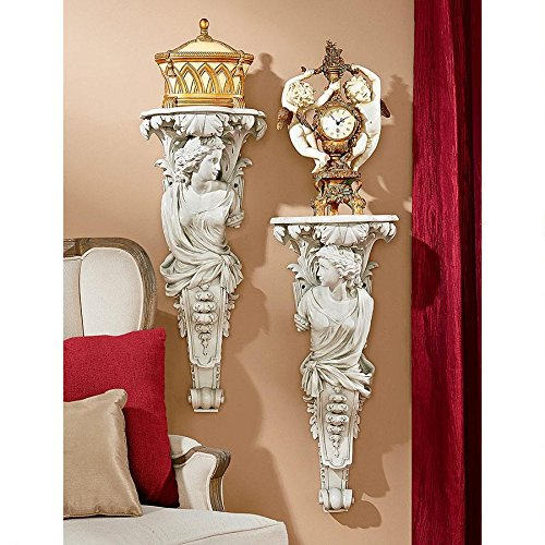 Design Toscano French Baroque Caryatid Wall Sculptures (Set of 2)