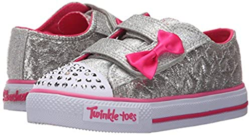 02. Skechers Kids Twinkle Toes Shuffles Sweet Steps Light-Up Sneaker (Toddler/Little Kid)
