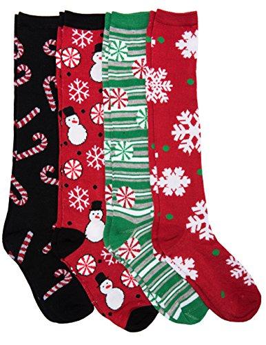 Knee High Festive Christmas Socks