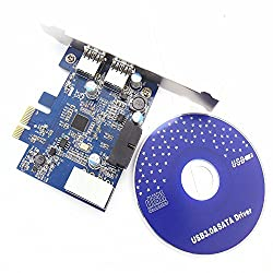 Allytech TM PC USB 3.0 2-Port to 19pin PCI Express PCI-E Adapter Controller Card