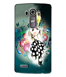 Fuson Girl With Fire Back Case Cover for LG G4 - D4069